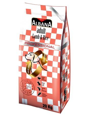 ALBANA ADULTO CORDERO Y ARROZ 20 KILOS