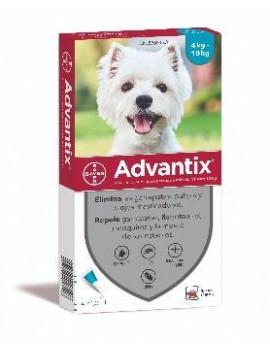 ADVANTIX  Caja 4 Pipetas Perros 4-10Kg