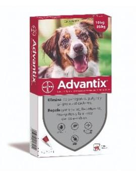 ADVANTIX Caja 4 pipetas perros de 10-25 Kg