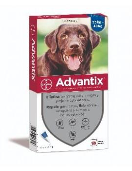 ADVANTIX Caja 4 Pipetas Perros de 25 - 40 Kg