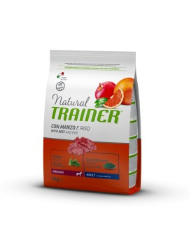 Natural Trainer Medium Adult Manzo 3Kg