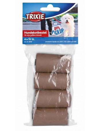 TRIXIE 4 Rollos de 10 bolsas Biodegradables