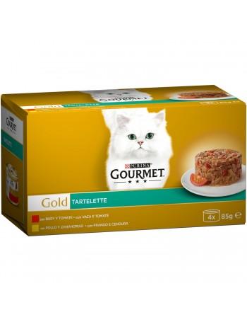 Gold tartalette buey/pollo 4x85gr