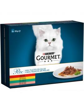 GOURMET Perle Mini Filetes Salsa Pack SurtidoPollo 8x85g