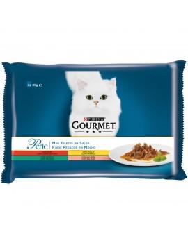 GOURMET Perle Mini Filetes Salsa Pack Surtido 4x85g