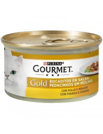 GOURMET Gold Bocaditos Salsa Pollo e Higado 85g