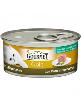 GOURMET Gold Mousse Pato y Espinaca 85g