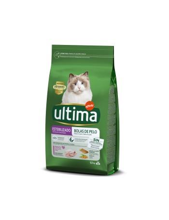 ULTIMA Cat Esterililizado Hairball 1,5kg