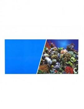 MARINA  FONDO Azul/Coral 45cmX7.6m