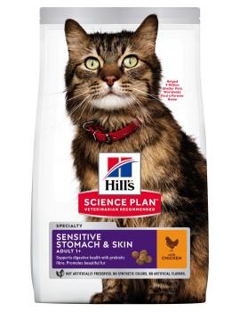 HILLS Feline Adulto Sensitive Stomach & Skin 1,5kg