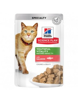 HILLS Feline Mature Adult +7 Youthful Vitality Salmon 12x85g