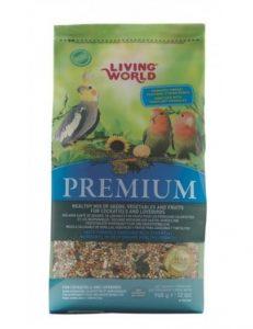 alimentacion de aves domesticas living world premium para cotorras