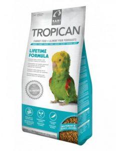 alimentación de aves domesticas lifetime formula de tropican para loros